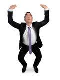 Business man lifting something Stock Photos