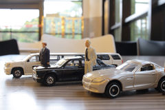 Business man with limosine car Royalty Free Stock Photo