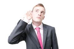 Business man listening Stock Images