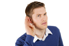 Business man listenning Royalty Free Stock Image