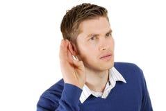 Business man listenning Royalty Free Stock Image