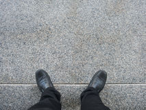 Free Business Man Look Down To Floor. Stock Photos - 57692643