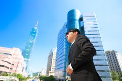Businessman in taipei stock image