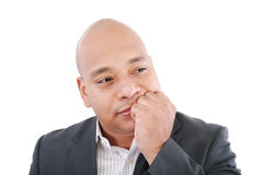 Business man looking away and thinking Royalty Free Stock Photography
