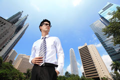 Business man looking away to copy space Stock Photography