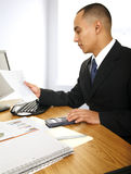 Business Man Looking At Chart Stock Images