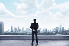 Business Man Looking At The City Royalty Free Stock Photos