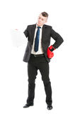 Business man looking at contract papers Royalty Free Stock Photography
