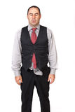 Business man looking depressed Stock Images