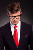 Business man looking down Royalty Free Stock Image