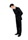 Business man looking down Royalty Free Stock Photo