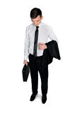 Business man looking down Stock Images