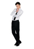 Business man looking down Royalty Free Stock Photography