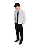 Business man looking down Stock Image