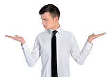 Business man looking hand Royalty Free Stock Image