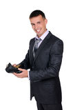 Business man looking at his empty Royalty Free Stock Photo