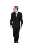 Business man looking right Royalty Free Stock Photos