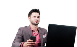 Business man looking serious Stock Images