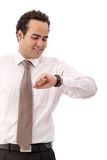 Business man looking at the time Stock Photos