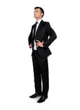 Business man looking up Stock Images