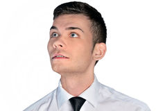 Business man looking up Royalty Free Stock Photo