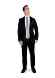 Business man  looking up. Isolated business man looking up Royalty Free Stock Photography