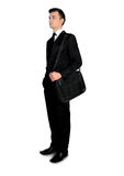 Business man looking up. Isolated business man looking up Stock Image