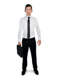 Business man looking up. Isolated business man looking up Stock Photo