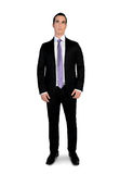 Business man looking up. Isolated business man looking up Stock Photos