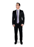 Business man  looking up. Isolated business man looking up Royalty Free Stock Photo