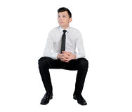 Business man looking up Royalty Free Stock Photos