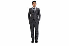 Business man and looking vision action Royalty Free Stock Photography