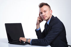 Business man looks at camera Stock Photography