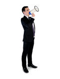 Business man with loudspeaker Royalty Free Stock Photo