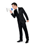 Business man with loudspeaker Royalty Free Stock Images