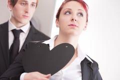 Business man loving busines woman Royalty Free Stock Image