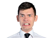 Business man mad face Royalty Free Stock Photography