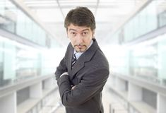 Business man. Mad business man portrait at the office Stock Photography