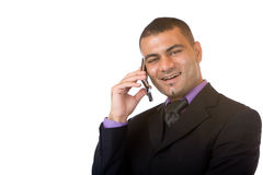 Business man makes telephone call Stock Images