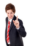 Business man making gesture Royalty Free Stock Photo