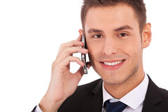 Business man making a phone call Stock Photo