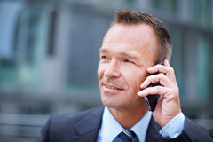 Business man making phone call Royalty Free Stock Images