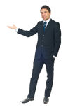 Business man making presentation royalty free stock images