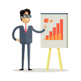 Business Man Making a Presentation Stock Images