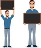 Business man making presentation near whiteboard Stock Photo