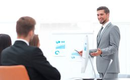 Business man making a presentation in the office. Stock Images