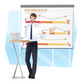 Business man making a presentation. Vector Royalty Free Stock Photo