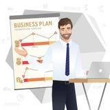 Business man making a presentation. Vector Royalty Free Stock Photos