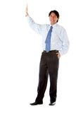 Business man making a stop sign Stock Images