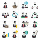 Business man and management icons. This image is a vector illustration Stock Image